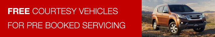 Free courtesy vehicle with every pre booked service